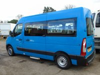 USED 2011 11 RENAULT MASTER 2.3DCI MM33 100 BHP MWB DISABLED PASSENGER MINI BUS +RICON TAILLIFT+SAT NAV+