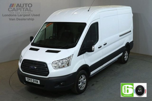 2017 17 FORD TRANSIT 2.0 350 L3 H2 130 BHP TREND LWB M/ROOF AIR CON EURO 6 AIR CONDITIONING EURO 6