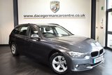 """USED 2015 15 BMW 3 SERIES 2.0 320D EFFICIENTDYNAMICS TOURING 5DR 161 BHP full bmw service history *NO ADMIN FEES* FINISHED IN STUNNING MINERAL METALLIC GREY WITH ANTHRACITE UPHOLSTERY + FULL BMW SERVICE HISTORY + SATELLITE NAVIGATION + BLUETOOTH + DAB RADIO + CRUISE CONTROL + AUTO AIR CON + RAIN SENSORS + FOG LIGHTS + PARKING SENSORS + 16"""" ALLOY WHEELS"""