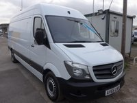 USED 2015 65 MERCEDES-BENZ SPRINTER 313 CDI LWB HI ROOF, 130 BHP [EURO 5], 1 COMPANY OWNER