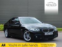 USED 2013 63 BMW 5 SERIES 2.0 520D M SPORT 4d 181 BHP FSH, LEATHER, SAT NAV, DAB