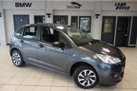 USED 2016 16 CITROEN C3 1.0 PURETECH VT 5d 67 BHP FINISHED IN STUNNING GREY WITH BLACK CLOTH SEATS + FULL SERVICE HISTORY + £20 ROAD TAX + 15 INCH STEEL WHEELS + CD/AUX PORT + LOW INSURANCE GROUP + HIGH MPG