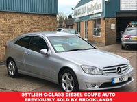 USED 2008 08 MERCEDES-BENZ CLC CLASS 2.1 CLC200 CDI SE 3 Door Automatic Iridium Silver 73768 miles FSH 122 BHP Stylish C-Class Diesel Coupe Auto Previously sold by Brooklands Full Service History