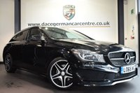 """USED 2015 65 MERCEDES-BENZ CLA 2.1 CLA220 CDI AMG SPORT 5DR AUTO 174 BHP full service history *NO ADMIN FEES* FINISHED IN STUNNING KOSMO METALLIC BLACK WITH HALF LEATEHR INTERIOR + FULL SERVICE HISTORY + SATELLITE NAVIGATION + BLUETOOTH + CRUISE CONTROL + ATTENTION ASSIST + BI-XENON HEADLAMPS + ECO TECHNOLOGY PACKAGE + NIGHT PACKAGE + AMG STYLING PACKAGE-FRONT SPOILER, SIDE SKIRT + ACTIVE PARK ASSIST + 18"""" ALLOY WHEELS"""