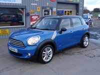 USED 2014 MINI COUNTRYMAN 1.6 COOPER D ALL4 5d 112 BHP   ONLY 22K  FSH FULL CHILLI PACK WITH LEATHER
