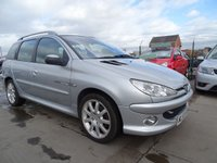2003 PEUGEOT 206 1.6 SW QUIKSILVER ESTATE PETROL DRIVES WELL £895.00