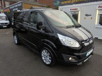 2017 FORD TRANSIT CUSTOM  SPORT 170 BHP  METALLIC PANTHER BLACK  !! AUTOMATIC !!  QUICK SHIFT TRIP TRONIC +GEAR SELECT  LEATHER AND CLOTH TRIM HEATED SEATS  SAT NAV CRUISE REAR PARKING CAMARA  LOW MILES 24,000 MILES FORD WARRANTY 2020   £18995.00
