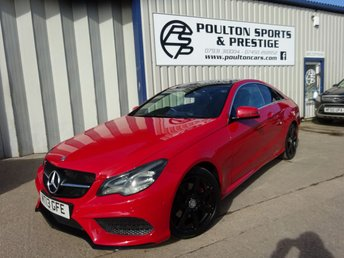 2013 MERCEDES-BENZ E 250 AMG sport coupe pan roof leather  £13980.00