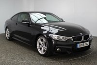 USED 2016 16 BMW 4 SERIES 2.0 420D M SPORT 2d AUTO 188 BHP FULL SERVICE HISTORY 1 OWNER £30 ROAD TAX  FULL BMW SERVICE HISTORY + £30 12 MONTHS ROAD TAX + HEATED LEATHER SEATS + SATELLITE NAVIGATION PROFESSIONAL + PARKING SENSOR + BLUETOOTH + CRUISE CONTROL + CLIMATE CONTROL + XENON HEADLIGHTS + DAB RADIO + MULTI FUNCTION WHEEL + ELECTRIC WINDOWS + 18 INCH ALLOY WHEELS