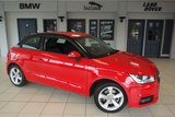USED 2017 17 AUDI A1 1.4 TFSI SPORT 3d AUTO 123 BHP FINISHED IN STUNNING MISSANO RED METALLIC WITH A BLACK CONTRAST STRIP +  2 TONE PARTIAL LEATHER AND CLOTH SPORT SEATS + 1 OWNER + BLUETOOTH + 16 INCH ALLOYS + DAB RADIO + CRUISE CONTROL + AIR CONDITIONING