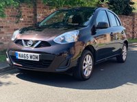 USED 2016 65 NISSAN MICRA 1.2 VIBE 5d 79 BHP 1 OWNER, FULL SERVICE HISTORY, MOT FEB 20, £30 TAX, EXCELLENT CONDITION, ALLOYS, AIR CON, RADIO CD, E/WINDOWS, R/LOCKING, FREE WARRANTY, FINANCE AVAILABLE, HPI CLEAR, PART EXCHANGE WELCOME,