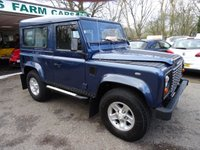 USED 2005 55 LAND ROVER DEFENDER 2.5 90 COUNTY HARD TOP TD5 1d 120 BHP Please note we are advertising this car on behalf of a regular customer and therefore it is a private sale. The car is not on-site so please call Susan on 07590 188 818 to arrange a viewing, the car is located in Five Oaks, Horsham. Service History, MOT until September 2019 (no advisories)