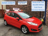 USED 2014 64 FORD FIESTA 1.2 ZETEC 3d 81 BHP Only £30 Road Tax, Only 38,000 Miles, Full Ford Service History, 12 Mths Mot,