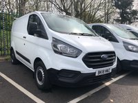 USED 2018 18 FORD TRANSIT CUSTOM 2.0 300 BASE P/V L1 H1 1d 104 BHP All Vehicles with minimum 6 months Warranty, Van Ninja Health Check and cannot be beaten on price!