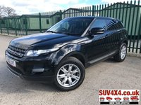 USED 2013 13 LAND ROVER RANGE ROVER EVOQUE 2.2 SD4 PURE TECH 5d AUTO 190 BHP 4WD PAN ROOF SAT NAV LEATHER  4WD. PANORAMIC SUNROOF. SATELLITE NAVIGATION. STUNNING BLACK MET WITH FULL BLACK LEATHER TRIM. HEATED SEATS. CRUISE CONTROL. 18 INCH ALLOYS. COLOUR CODED TRIMS. PRIVACY GLASS. PARKING SENSORS. BLUETOOTH PREP. CLIMATE CONTROL INCLUDING AIR CON. MULTIMEDIA SYSTEM. R/CD/DAB RADIO. MFSW. MOT 03/20. ONE PREV OWNER. SERVICE HISTORY. PRESTIGE SUV CENTRE - LS24 8EJ. TEL 01937 849492 OPTION 1