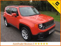 USED 2015 65 JEEP RENEGADE 1.6 M-JET LONGITUDE 5d 118 BHP. *ULEZ COMPLIANT*EURO 6 Fantastic One Lady Owned Jeep Renegade Longitude, Euro 6, Satellite Navigation, Air Conditioning, Cruise control, Alloy Wheels and Jeep Service History