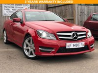 USED 2015 15 MERCEDES-BENZ C-CLASS 1.6 C180 AMG SPORT EDITION 2d AUTO 154 BHP 3 YEARS PREMIUM WARRANTY WITH RECOVERY