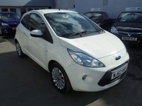 USED 2012 62 FORD KA 1.2 ZETEC 3d 69 BHP Retail price £4995,with £500 minimum part exchange allowance,balance price £4495