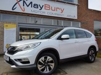 USED 2016 16 HONDA CR-V 1.6 I-DTEC EX 5d 158 BHP ONE OWNER FULL HONDA SERVICE HISTORY 4WD TOP OF THE RANGE