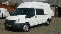 2010 FORD TRANSIT 350 LWB  9 SEATER CREW VAN LWB HI/ROOF 1 OWNER 2 KEYS F/S/H XMOD NO VAT TO ADD FREE 12 MONTHS WARRANTY COVER £6150.00