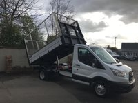 USED 2016 16 FORD TRANSIT 2.2 350 CAGED TIPPER SINGLE CAB 125PS Low Mileage, Caged Tipper