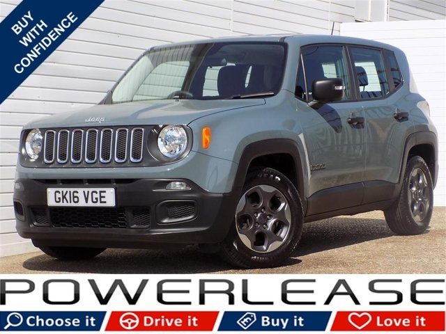 USED 2016 16 JEEP RENEGADE 1.6 M-JET SPORT 5d 118 BHP 30 POUND TAX FSH BLUETOOTH