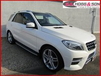 "USED 2015 15 MERCEDES-BENZ M CLASS 3.0 ML350 BLUETEC AMG LINE PREMIUM 5dr AUTO 255 BHP *MASSIVE SPECIFICATION* **PANORAMIC SUNROOF, AIRMATIC SUSPENSION, 21""ALLOYS**"