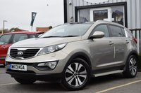 USED 2013 13 KIA SPORTAGE 2.0 CRDI KX-3 SAT NAV 5d 134 BHP Full Service History With 6 Stamps & New MOT on Sale.