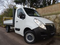 2013 VAUXHALL MOVANO 2.3 CDTI 16v FWD CC 13 D125 L2H1 DROPSIDE WITH TAIL LIFT £10995.00