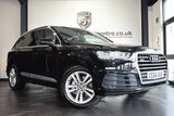 "USED 2016 66 AUDI Q7 3.0 TDI QUATTRO S LINE 5DR AUTO 215 BHP full audi service history FINISHED IN STUNNING NIGHT BLACK WITH HALF BLACK LEATHER INTERIOR + FULL AUDI SERVICE HISTORY + SATELLITE NAVIGATION + BLUETOOTH + HEATED ELECTRIC SEATS + DAB RADIO + CRUISE CONTROL + ELECTRIC FOLDING REAR SEATS + DUAL CLIMATE CONTROL + ELECTRIC BOOT + RAIN SENSORS + 7 SEATER + HEATED ELECTRIC FOLDING MIRRORS + PARKING SENSORS + 20"" ALLOY WHEELS"