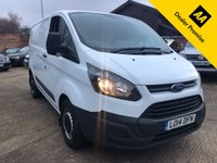 USED 2014 14 FORD TRANSIT CUSTOM 2.2 290 LOW ROOF  PANEL VAN 125 BHP One company owner from new, Full Ford service history.