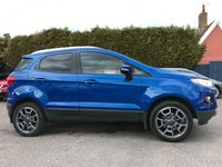 2016 FORD ECOSPORT 1.0 TITANIUM 5d 125 BHP WINTER PACK,KEYLESS ENTRY/START £10000.00