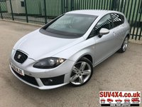 USED 2011 61 SEAT LEON 2.0 CR TDI FR PLUS 5d 168 BHP SAT NAV CRUISE MEDIA CONNECTIVITY FSH SATELLITE NAVIGATION. STUNNING SILVER MET WITH FULL BLACK CLOTH TRIM. CRUISE CONTROL. 18 INCH ALLOYS. COLOUR CODED TRIMS. BLUETOOTH PREP. PRIVACY GLASS. DUAL CLIMATE CONTROL. TRIP COMPUTER. R/CD/AUX PLAYER. MEDIA CONNECTIVITY. 6 SPEED MANUAL. MFSW. MOT 10/19. ONE PREV OWNER. FULL SERVICE HISTORY. SUV & 4X4 CAR CENTRE LS23 7FR. TEL 01937 849492. OPTION 2