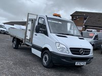 USED 2013 62 MERCEDES-BENZ SPRINTER 2.1 313 CDI LWB DROPSIDE CHASSIS  BLUEEFFICIENCY DROPSIDE, LWB, BLUETOOTH CRUISE, TIDY SPRINTER,