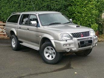 2004 MITSUBISHI L200 2.5 TD 4WD LWB WARRIOR DCB 1d 114 BHP NO VAT LOW MILES £4499.00