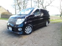 USED 2005 55 NISSAN ELGRAND ELGRAND 8 SEAT 3.5 V6 GAS CONVERSION STUNNING TOP SPEC ELGRAND. LPG GAS CONVERSION.REAR UK DVD PLAYER. 8 SEATER.