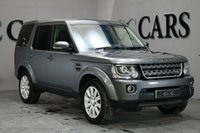 USED 2014 14 LAND ROVER DISCOVERY 3.0 SDV6 COMMERCIAL XS 1d AUTO 255 BHP 7 SEAT Corris Grey / Black Full Leather Heated Electric Memory Seats, 7 Seats, HDD Satellite Navigation + Bluetooth Connectivity + DAB Radio + Harmon Kardon Premium Sound, 19 Inch Alloy Wheels, Front and Rear Park Distance Control + Reverse Camera, Puddle Lamps Front and Rear, Heated Multi Function Steering Wheel, Automatic Xenon Headlights with Power Wash, Cruise Control, Digital Dual Zone Climate Control, On-board Computer, Tyre Pressure Monitor,
