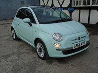 USED 2014 64 FIAT 500 1.2 LOUNGE 3d 69 BHP
