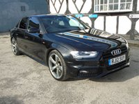 2012 AUDI A4 2.0 TDI BLACK EDITION 4d 141 BHP £11463.00