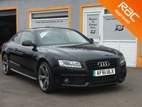 """USED 2011 61 AUDI A5 2.0 TDI BLACK EDITION 2d 168 BHP Privacy Glass, 19"""" alloys, Black Edition styling, Black Leather, Stunning"""