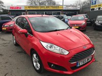 2016 FORD FIESTA 1.0 ZETEC 5d 99 BHP IN METALLIC RED WITH 34,000 MILES £7999.00