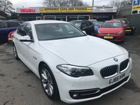 2016 BMW 5 SERIES 2.0 520D LUXURY 4d 188 BHP IN METALLIC WHITE WITH A FULL SERVICE HISTORY AND ONLY 57,000 £14499.00