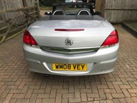 USED 2008 08 VAUXHALL ASTRA 1.6 TWIN TOP SPORT 3d 114 BHP LOW MILEAGE