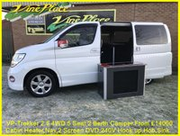 USED 2004 04 NISSAN ELGRAND V-P Trekker 2.5/3.5 Auto 5 Seat 2 Berth Campervan 2 Berth+5Seat+Cabin Heater+Nav+DVD+Hob+Sink+240V Hook up+Leisure Battery+