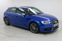 """USED 2016 16 AUDI S3 2.0 S3 SPORTBACK QUATTRO NAV 5d 296 BHP Finished in stunning Resin Blue Metallic with Black Full Leather, 18"""" Alloy Wheels, Parking Sensors, Roof Rails, Xenon Headlights and Full Audi Service History. Satellite Navigation, Electric/Heated Seats, Bluetooth Connectivity, DAB digital Radio, Stop/Start Function, Air Conditioning, Climate Control, Multi Function Steering Wheel, Cruise Control, Electric Mirrors and  Windows"""