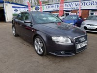 USED 2007 07 AUDI A4 2.0 TDI S LINE TDV 4d 140 BHP 0%  FINANCE AVAILABLE ON THIS CAR PLEASE CALL 01204 393 181