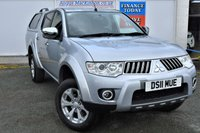 USED 2011 11 MITSUBISHI L200 2.5 DI-D 4X4 WARRIOR 5 Seat Double Cab Pickup with Great High Spec inc Rear Canopy Towbar Rear Load Liner Black Leather Seats and Full Service History with recent Cambelt Change too **NO VAT**