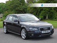 USED 2009 09 AUDI A4 2.0 AVANT TDI S LINE DPF 5d 168 BHP SPECIAL EDITION