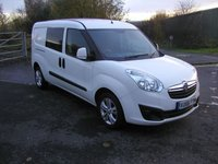 USED 2016 66 VAUXHALL COMBO 1.2 2300 L2H1 CDTI SPORTIVE VAN - NO VAT Only 41000 miles, 1 Owner, Air Con