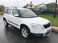 2012 SKODA YETI 2.0 S TDI CR 4X4  ONE OWNER FSH CANDY WHITE VERY CLEAN  £6495.00